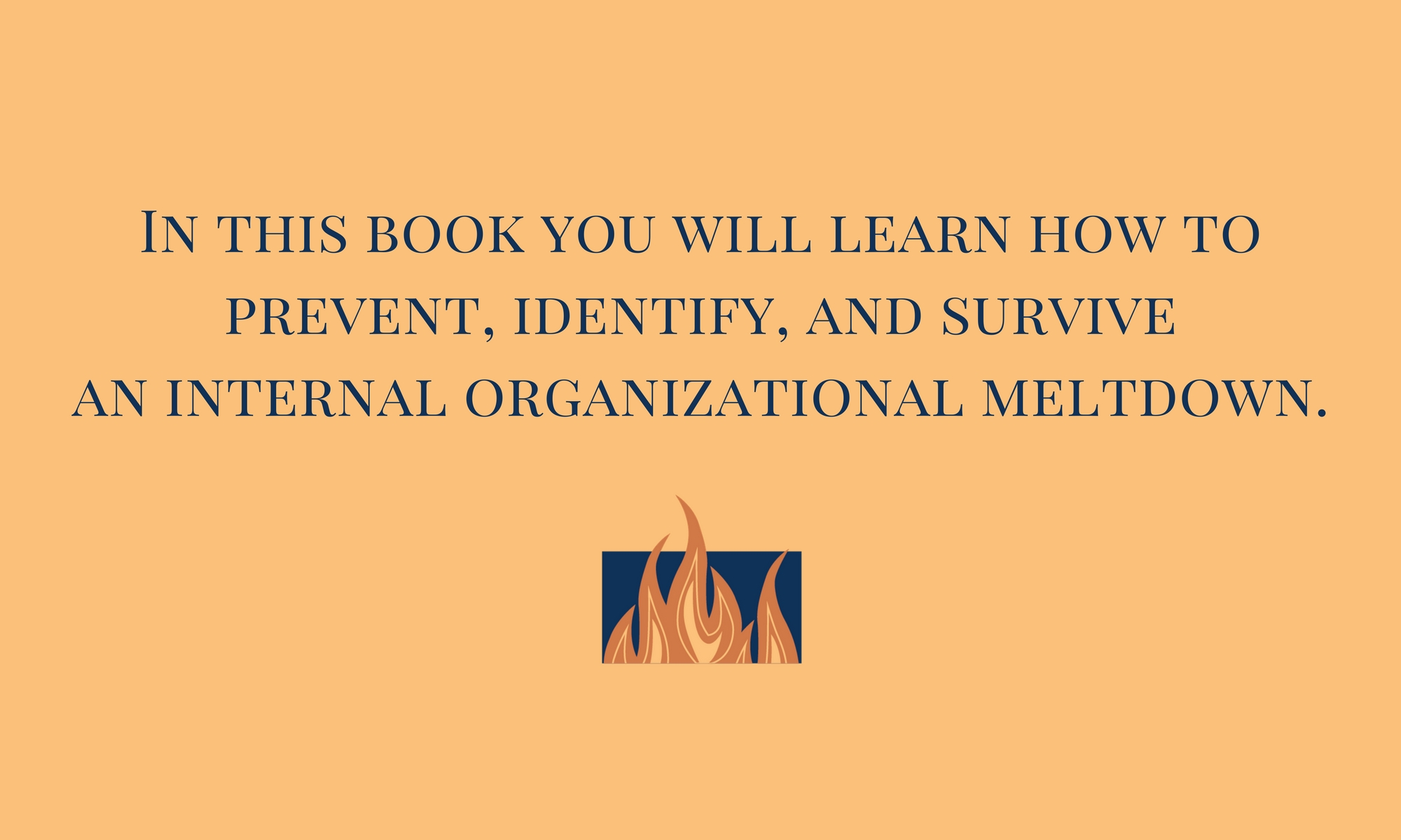 This book will teach you how to prevent, identify, and survive an internal organizational meltdown.