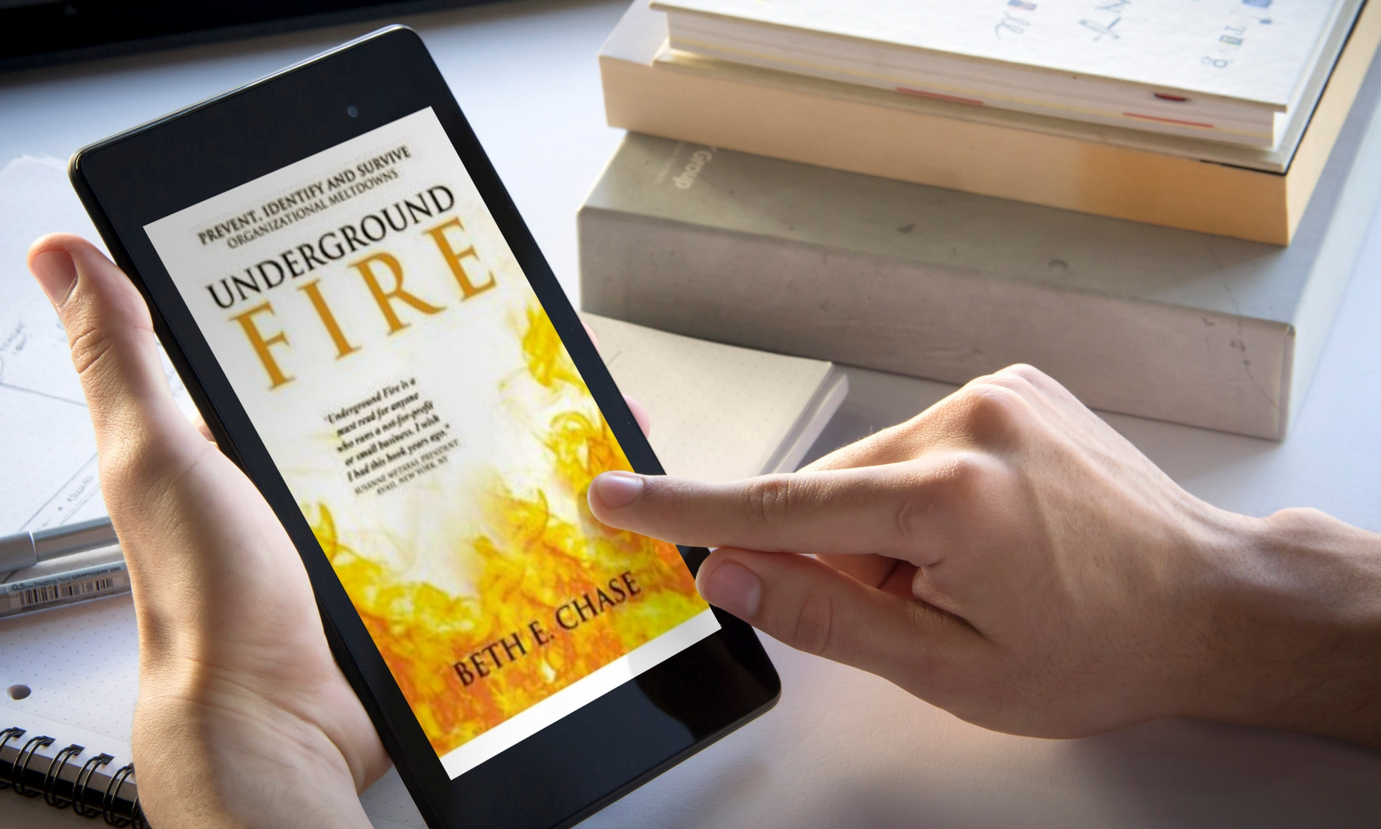 Underground Fire book is on Kindle